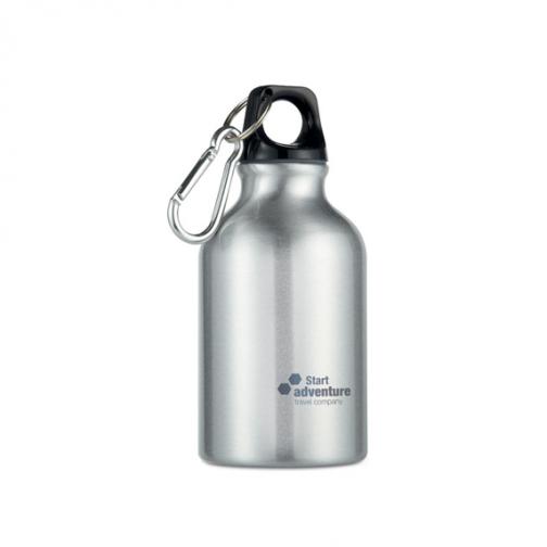 Алуминиева бутилка с карабинер-300 мл.
