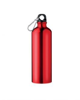 Алуминиева бутилка с карабинер - 750 мл. , червен цвят