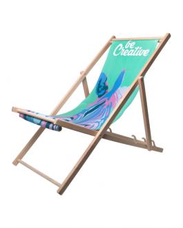 Рекламен дървен стол