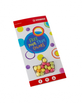 Рекламна картичка с бонбонки по индивидуален дизайн