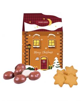 Коледна мини къщичка с бисквити