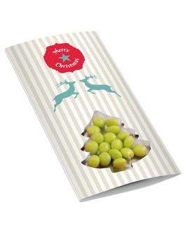 Коледна картичка с бонбонки