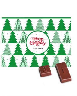 Новогодишен адвент календар с шоколадчета
