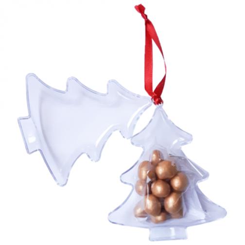 Коледна кутия-играчка с пълнеж златен фъстък