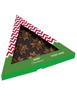 Коледна бонбониера с шоколадови звездички