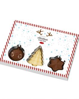 Шоколадови коледни бонбони с корпоративен дизайн
