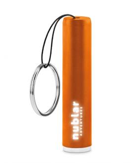 Фенерче с ключодържател-светещо лого оранжев цвят