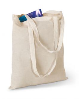 Памучна чанта с дълги дръжки
