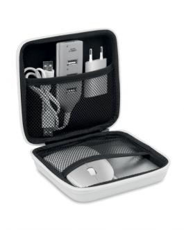 Комплект със зарядна батерия - бял/сребърен цвят
