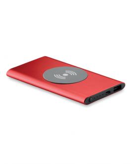 Алуминиевата безжична зарядна батерия-4000 mAh -червен цвят