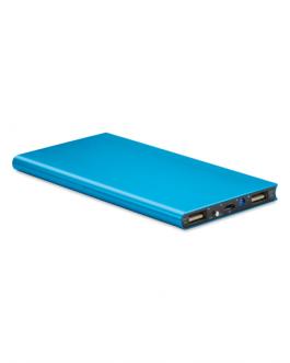 Алуминиевата мобилна зарядна батерия-8000 mAh-светло син цвят