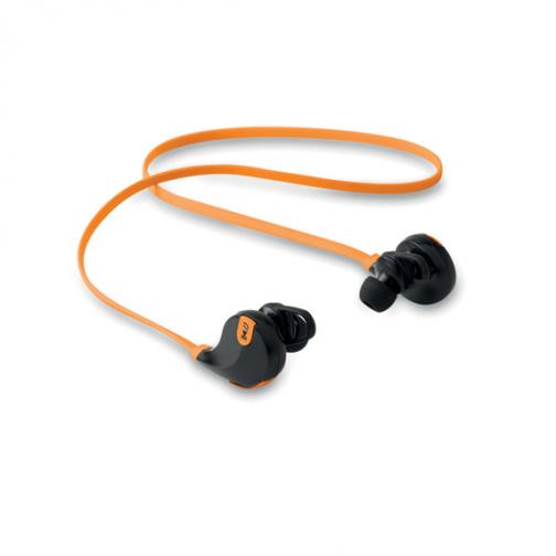 Безжични слушалки с микрофон-оранжев цвят