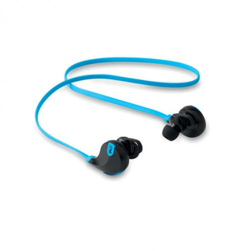 Безжични слушалки с микрофон-син цвят