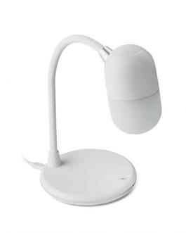 Лампа с безжично зарядно и колнка