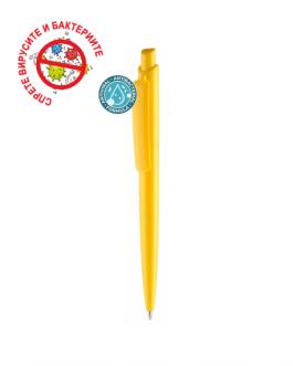 Рекламна антибактериална химикалка ВИНИ - жълт цвят
