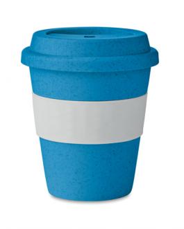 Цветна бамбукова чаша със силиконов капак