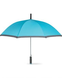 Рекламен чадър с дръжка от EVA-светло син цвят