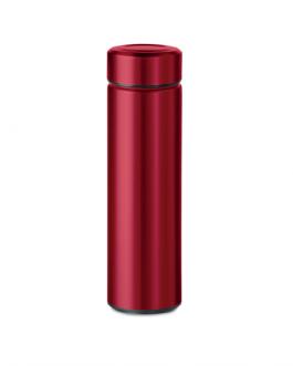 Цветен термос с цедка-червен цвят