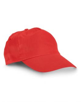Лятната детска промоционална шапка -червен цвят