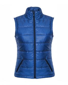 Рекламен дамски елек-син цвят