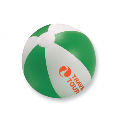 Надуваема двуцветна плажна топка с лого