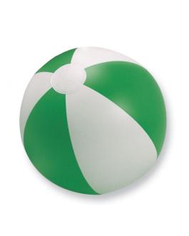 Надуваема двуцветна плажна топка-бял/зелен цвят