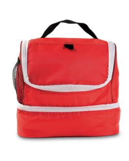 Хладилна плажна чанта-червен цвят