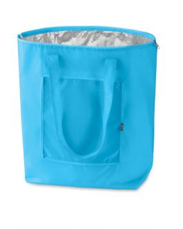 Сгъваема охладителна пазарска чанта-светло син цвят