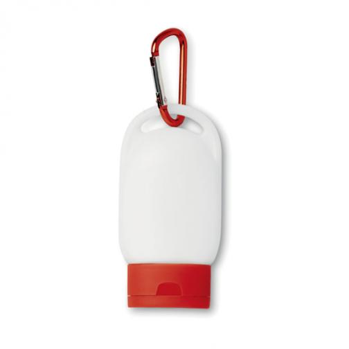 Рекламен слънцезащитен крем-червен цвят
