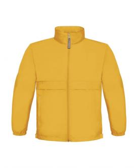 Ветроустойчиво детско яке-жълт цвят