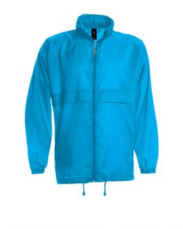 Рекламна мъжка ветровка-светло син цвят