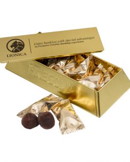 Шоколадови трюфели в златна кутия