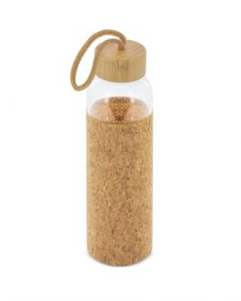 Стъклена бутилка с калъф от корк