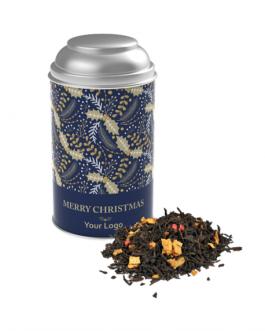 Коледен чай в метална кутия