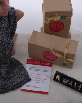 Коледен комплект с шал