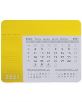 Подложка за мишка с календар-жълт цвят
