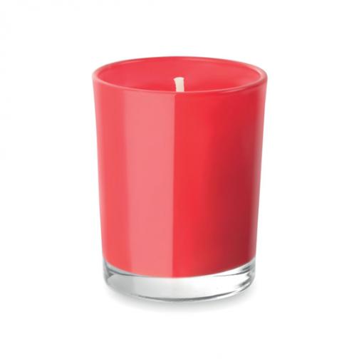 Ароматна свещ в чаша-червен цвят