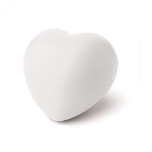 Антистрес топка Сърце-бял цвят