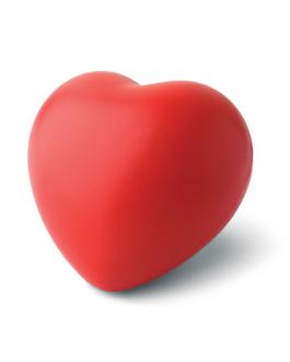 Антистрес топка Сърце-червен цвят