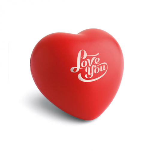 Антистрес топка Сърце с лого