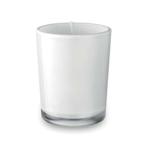 Ароматна свещ в чаша-бял цвят