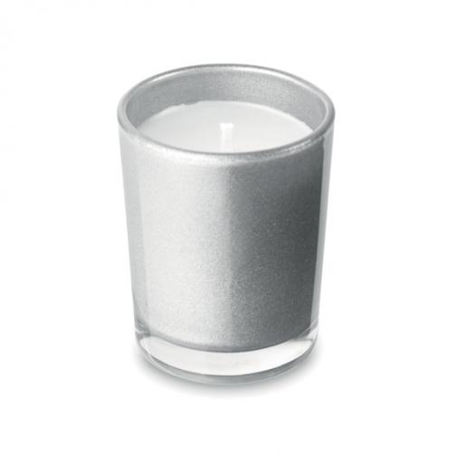 Ароматна свещ в чаша-сребърен цвят