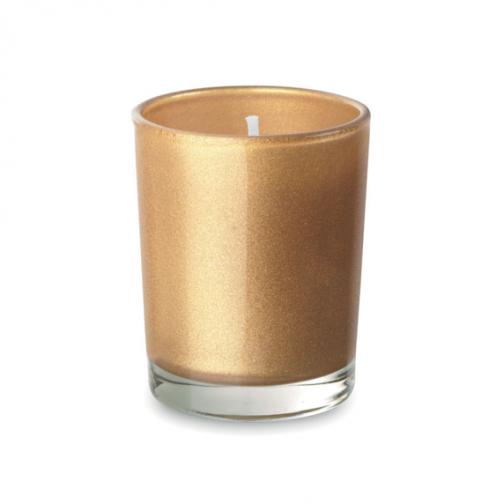 Ароматна свещ в чаша-златен цвят