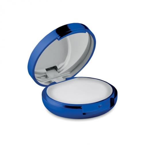 Балсам за устни и огледало-син металик цвят