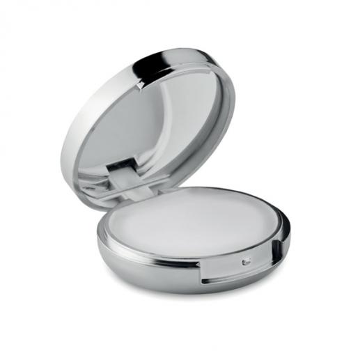Балсам за устни и огледало-сребърен металик цвят