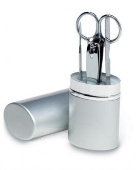 Дамски комплект за маникюр в алуминиев тубус