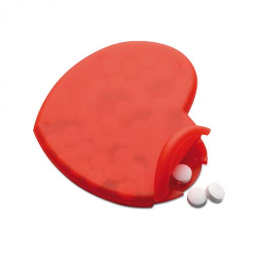 Кутия с ментови бонбони Сърце