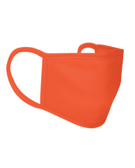 Трислойна маска за лице от полиестер-оранжев цвят
