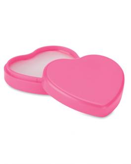 Пластмасова кутийка Сърце с вазелин за устни-розов цвят