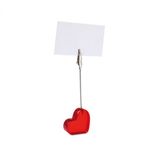 Щипка за бележки Сърце